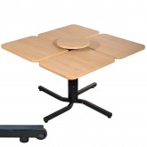 4 Person, Individually Adjustable Table
